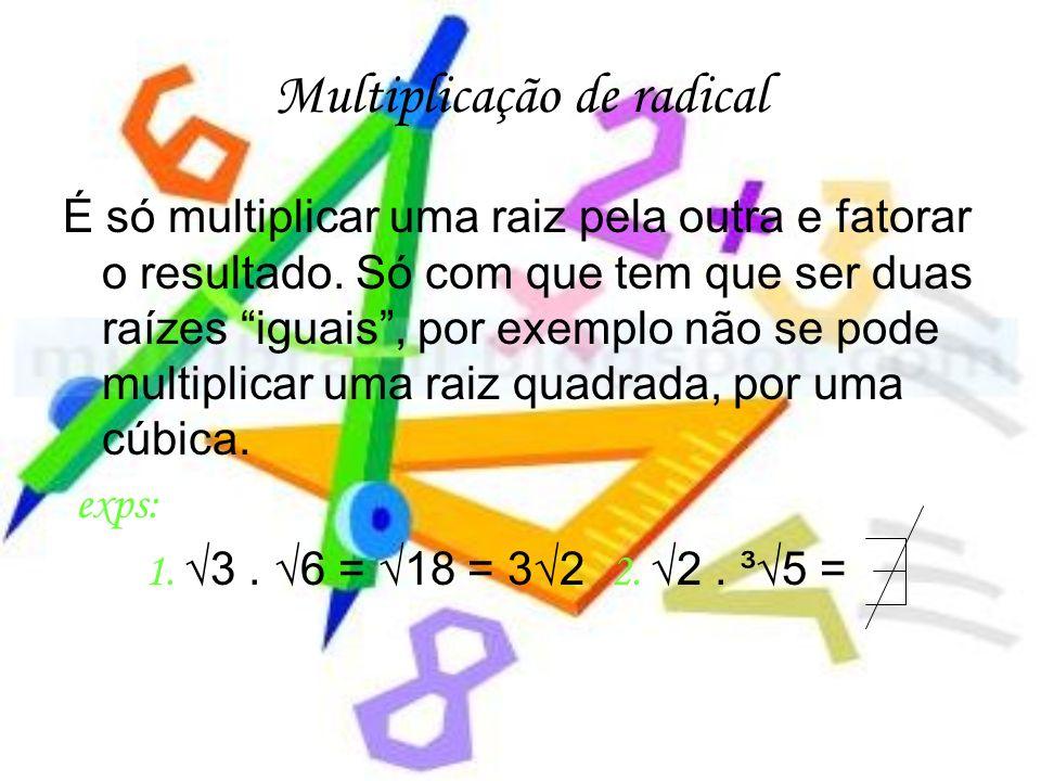 Multiplicação de radical