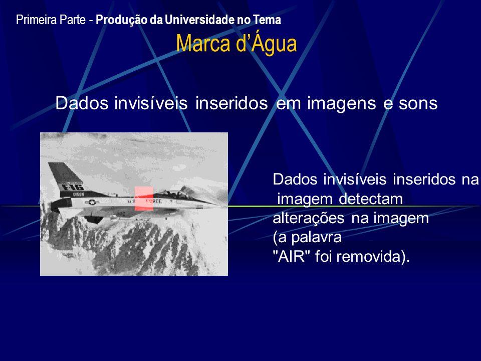 Dados invisíveis inseridos em imagens e sons