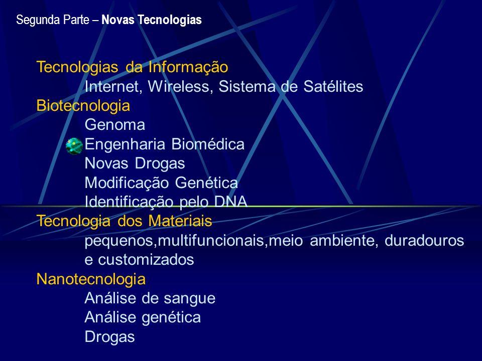 Tecnologias da Informação Internet, Wireless, Sistema de Satélites