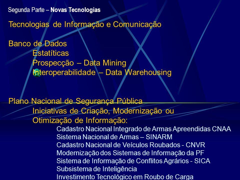 Tecnologias de Informação e Comunicação Banco de Dados Estatíticas
