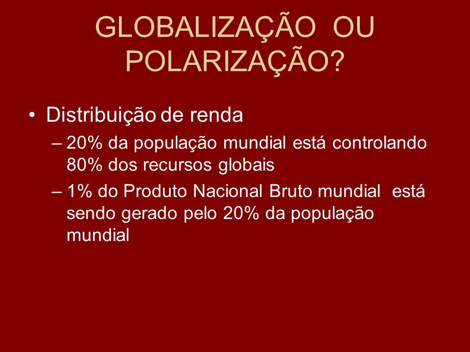 GLOBALIZAÇÃO OU POLARIZAÇÃO