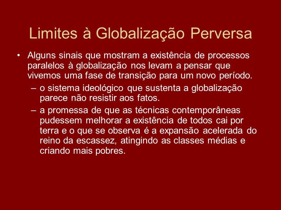Limites à Globalização Perversa