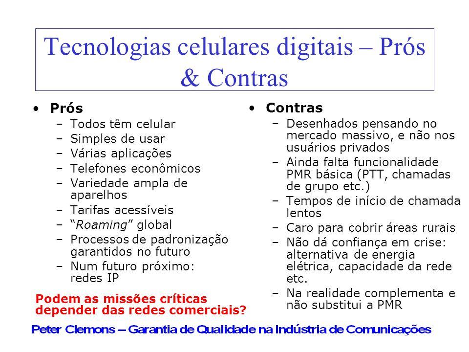Tecnologias celulares digitais – Prós & Contras