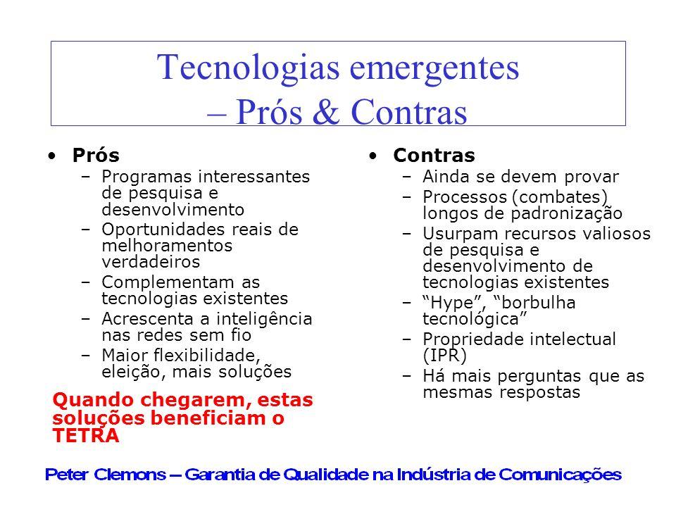 Tecnologias emergentes – Prós & Contras