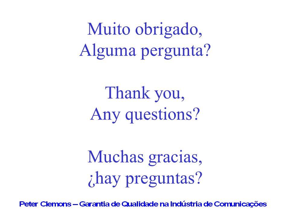 Muito obrigado, Alguma pergunta. Thank you, Any questions