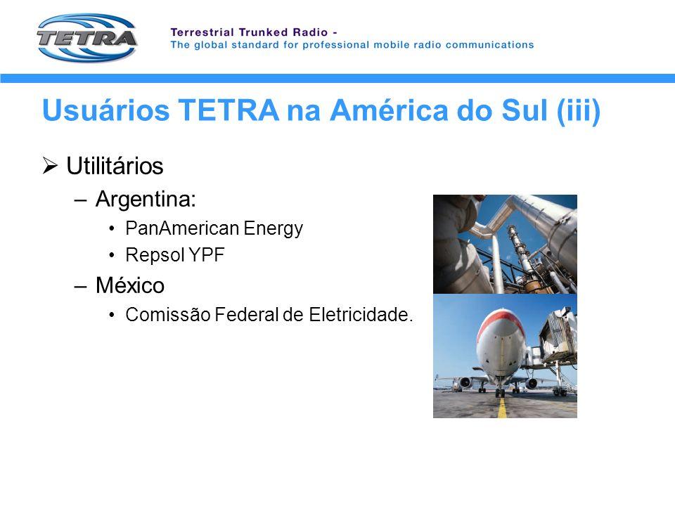 Usuários TETRA na América do Sul (iii)