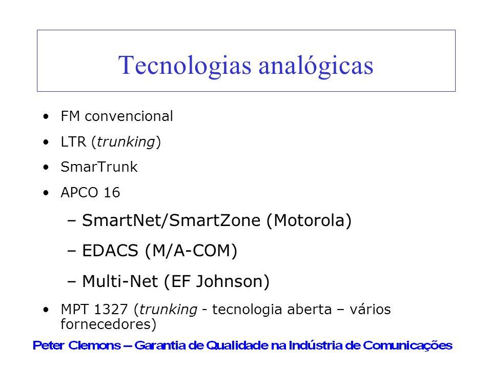 Tecnologias analógicas