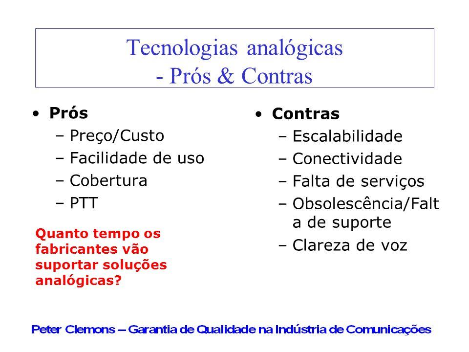 Tecnologias analógicas - Prós & Contras