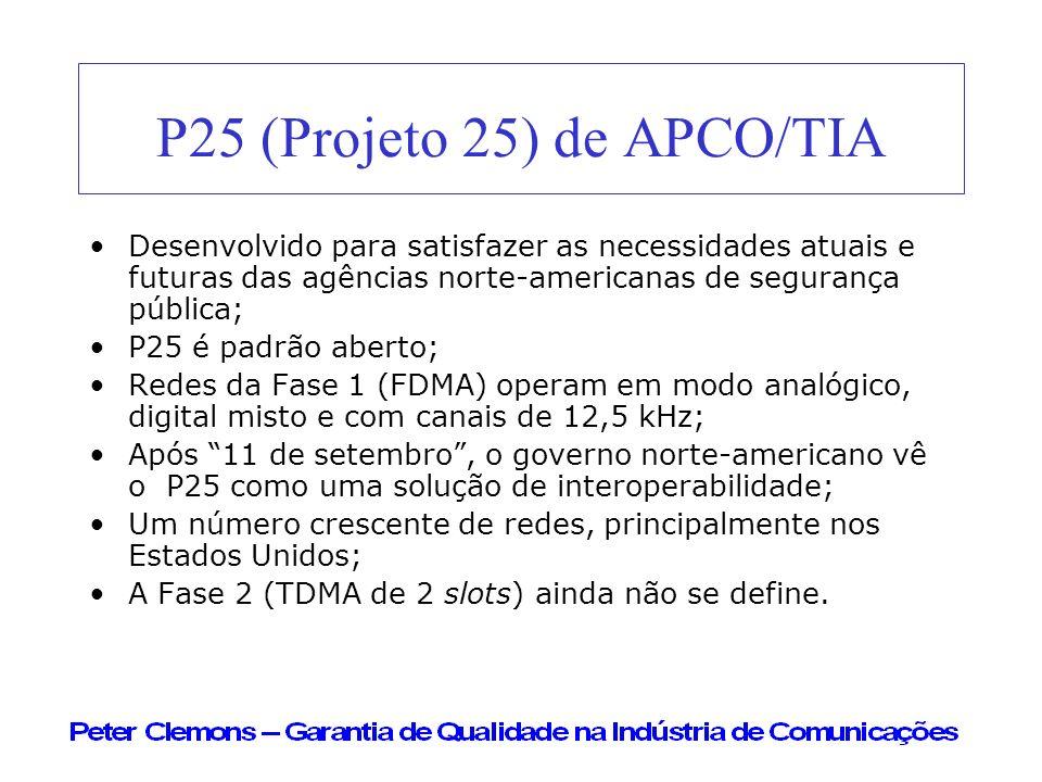 P25 (Projeto 25) de APCO/TIA