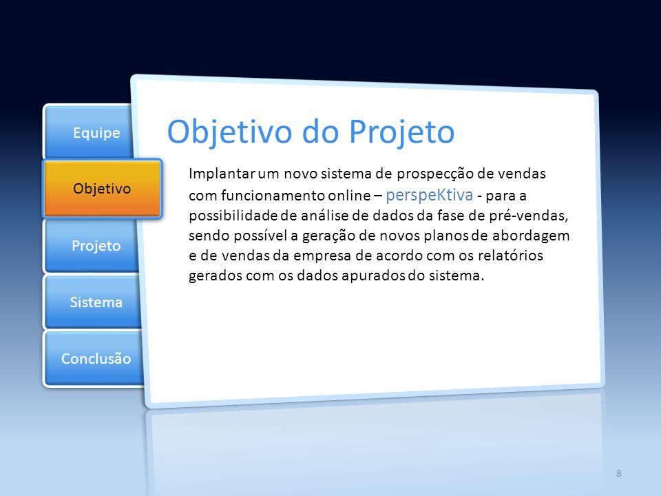 Objetivo do Projeto Equipe