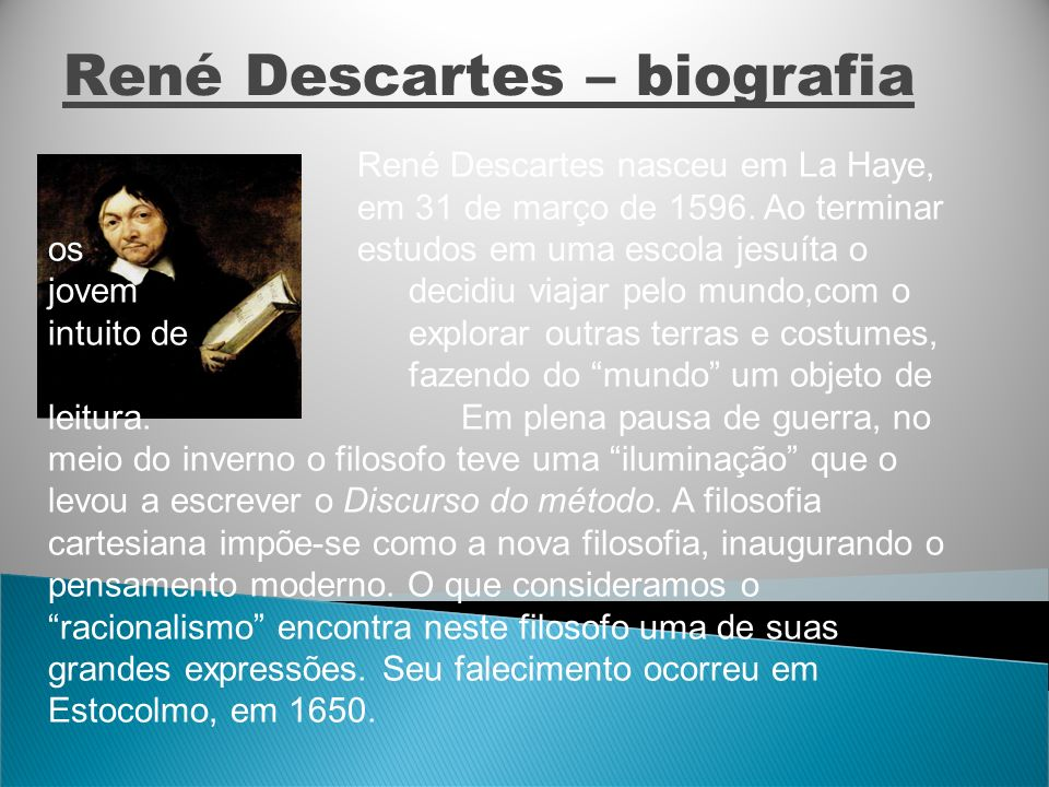 René Descartes – biografia