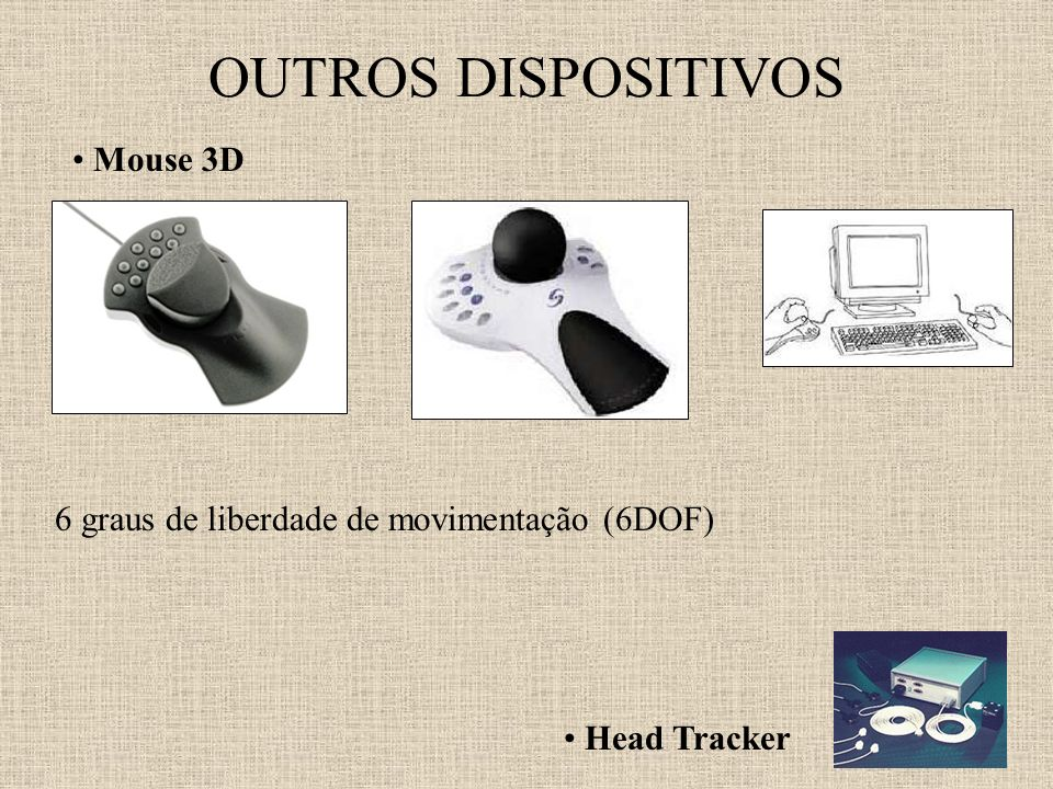 OUTROS DISPOSITIVOS Mouse 3D