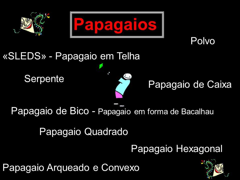 Papagaios Polvo «SLEDS» - Papagaio em Telha Serpente Papagaio de Caixa