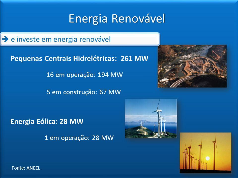 Energia Renovável  e investe em energia renovável