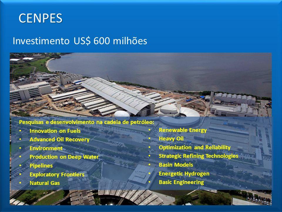 CENPES Investimento US$ 600 milhões