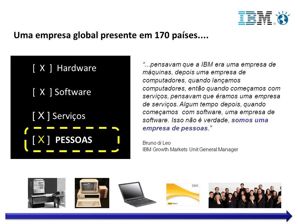 Uma empresa global presente em 170 países....