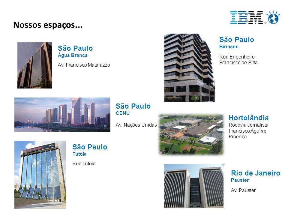 Nossos espaços... São Paulo Birmann São Paulo São Paulo Hortolândia