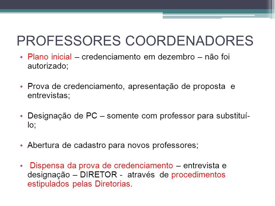PROFESSORES COORDENADORES