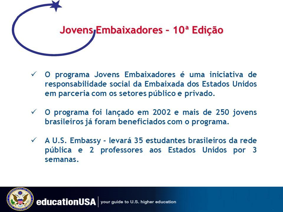 Jovens Embaixadores – 10ª Edição