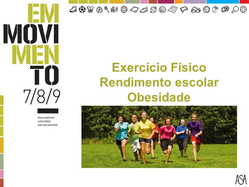 Exercício Físico Rendimento escolar Obesidade