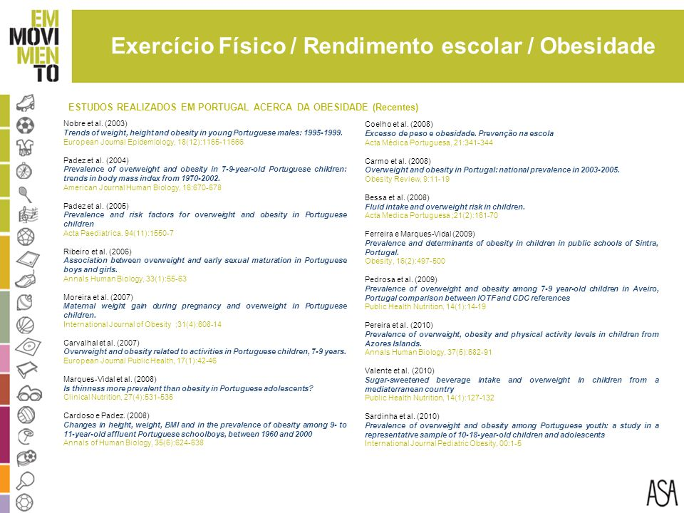 Exercício Físico / Rendimento escolar / Obesidade