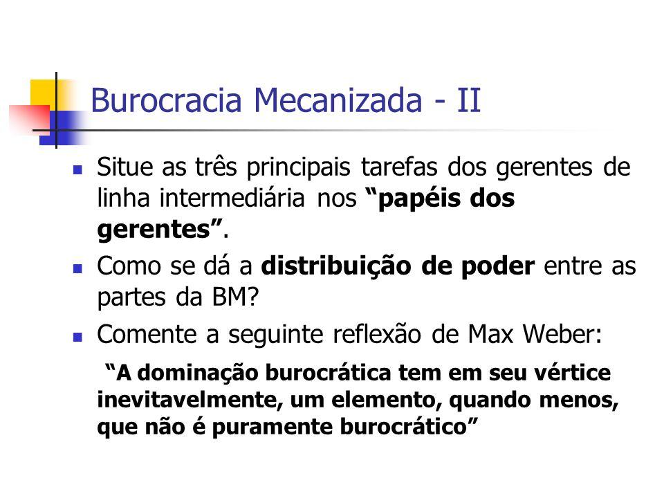 Burocracia Mecanizada - II