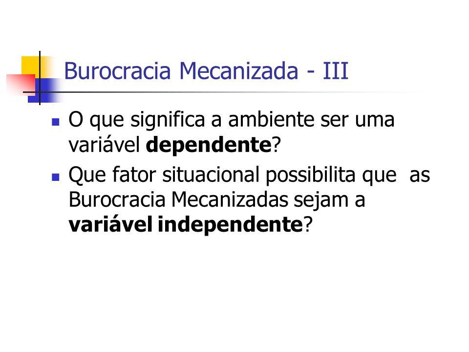 Burocracia Mecanizada - III