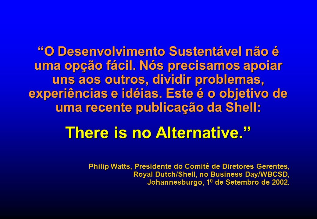 There is no Alternative.