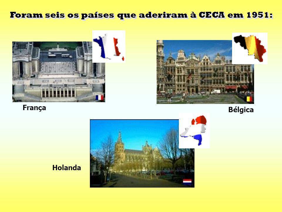 Foram seis os países que aderiram à CECA em 1951:
