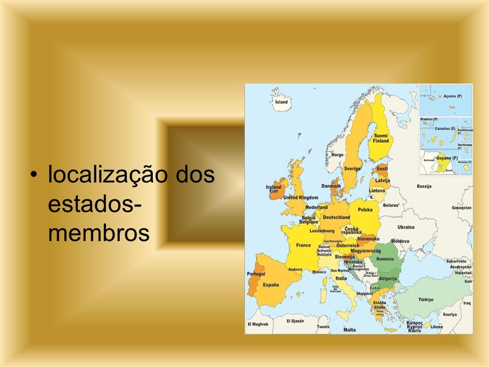 localização dos estados-membros