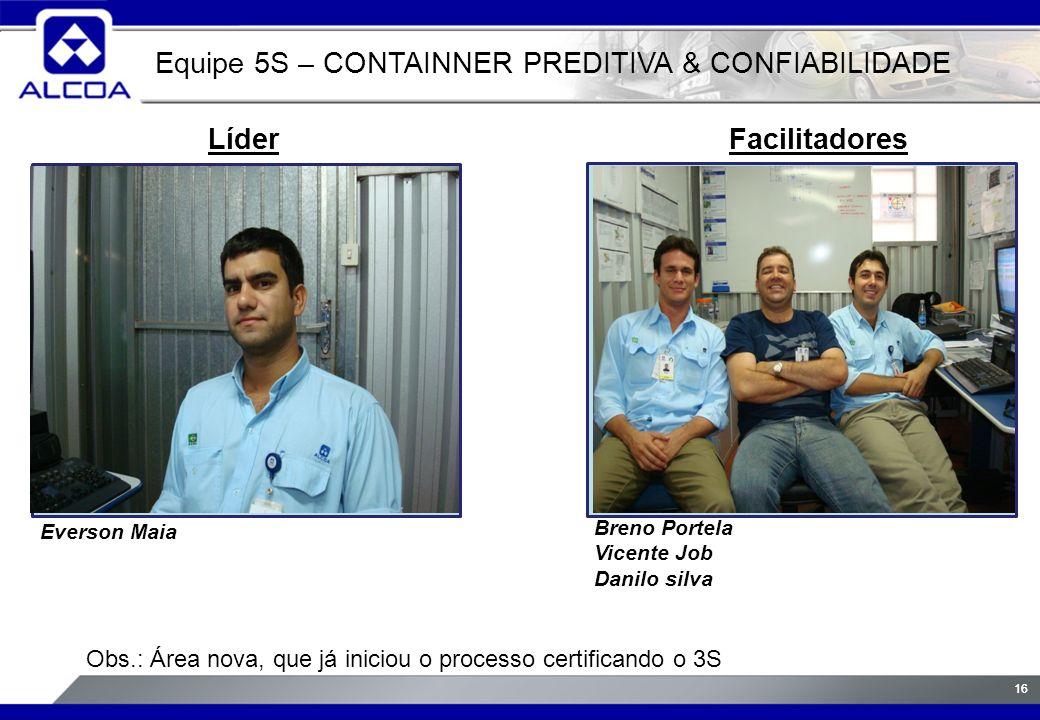 Equipe 5S – CONTAINNER PREDITIVA & CONFIABILIDADE