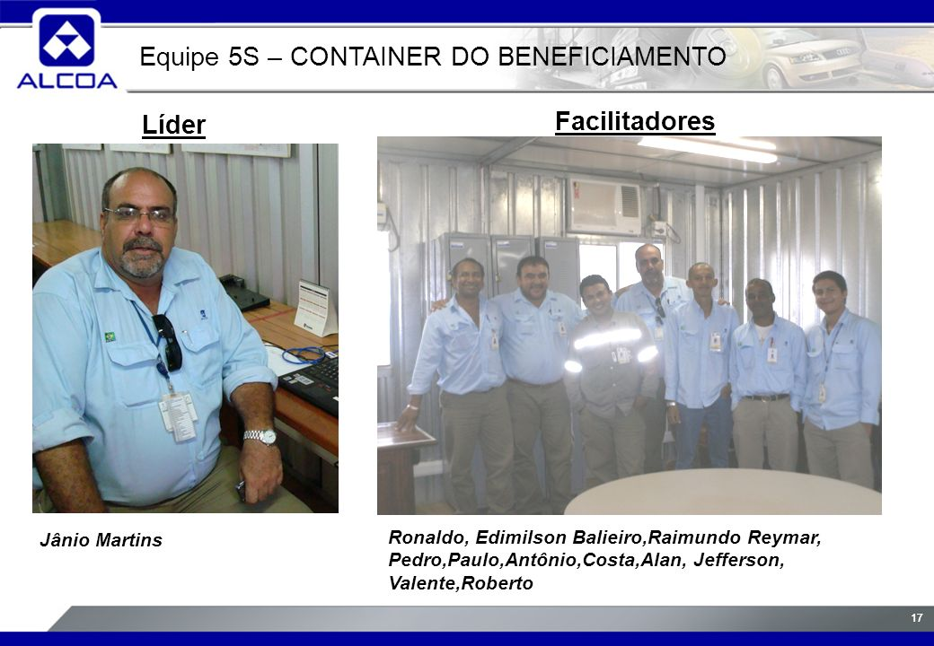 Equipe 5S – CONTAINER DO BENEFICIAMENTO