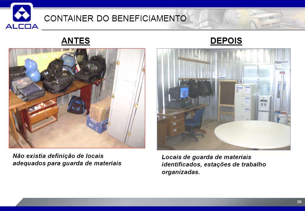 CONTAINER DO BENEFICIAMENTO