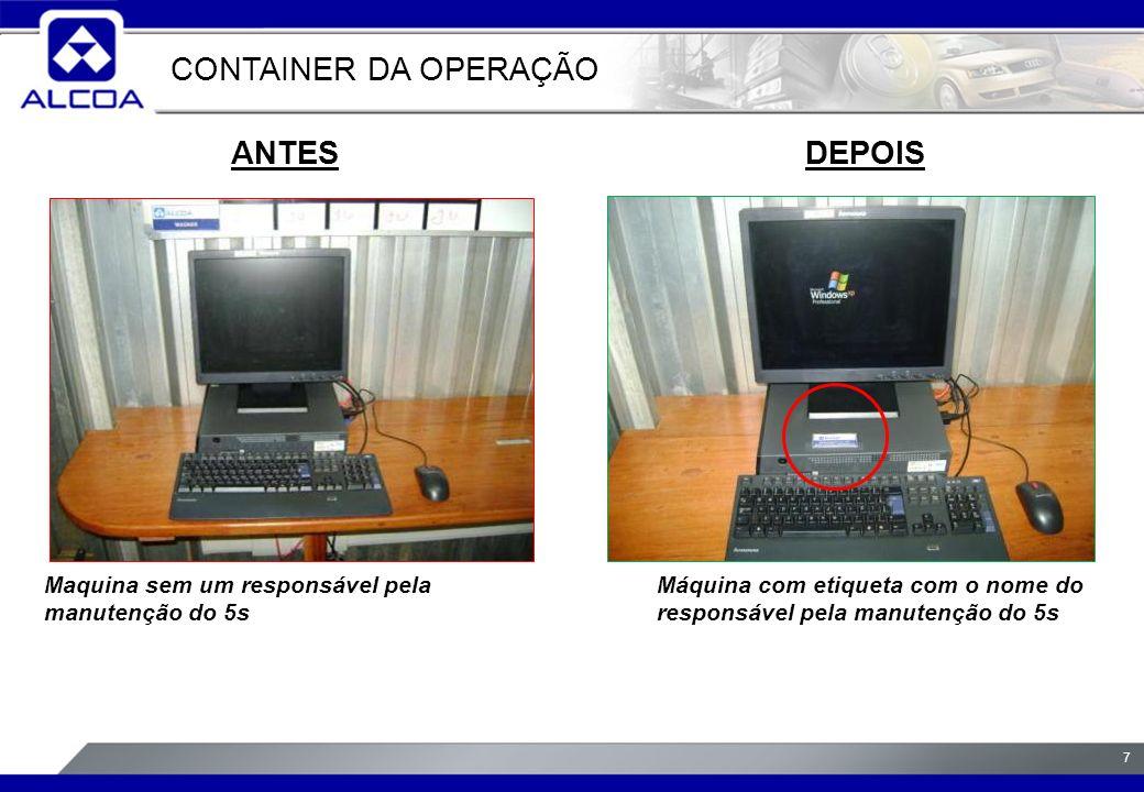 CONTAINER DA OPERAÇÃO ANTES DEPOIS
