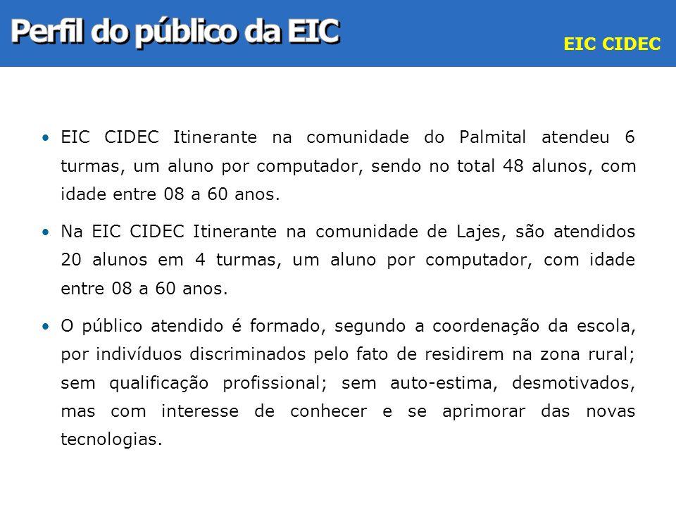 Perfil do público da EIC