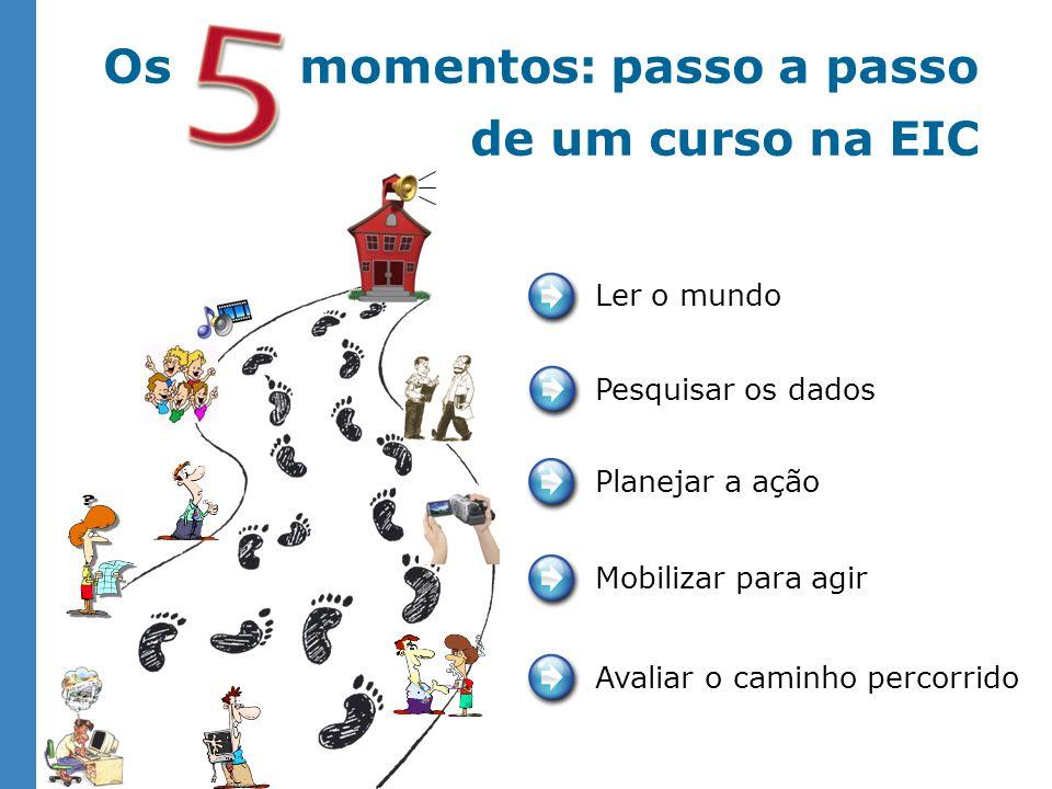 Os momentos: passo a passo de um curso na EIC