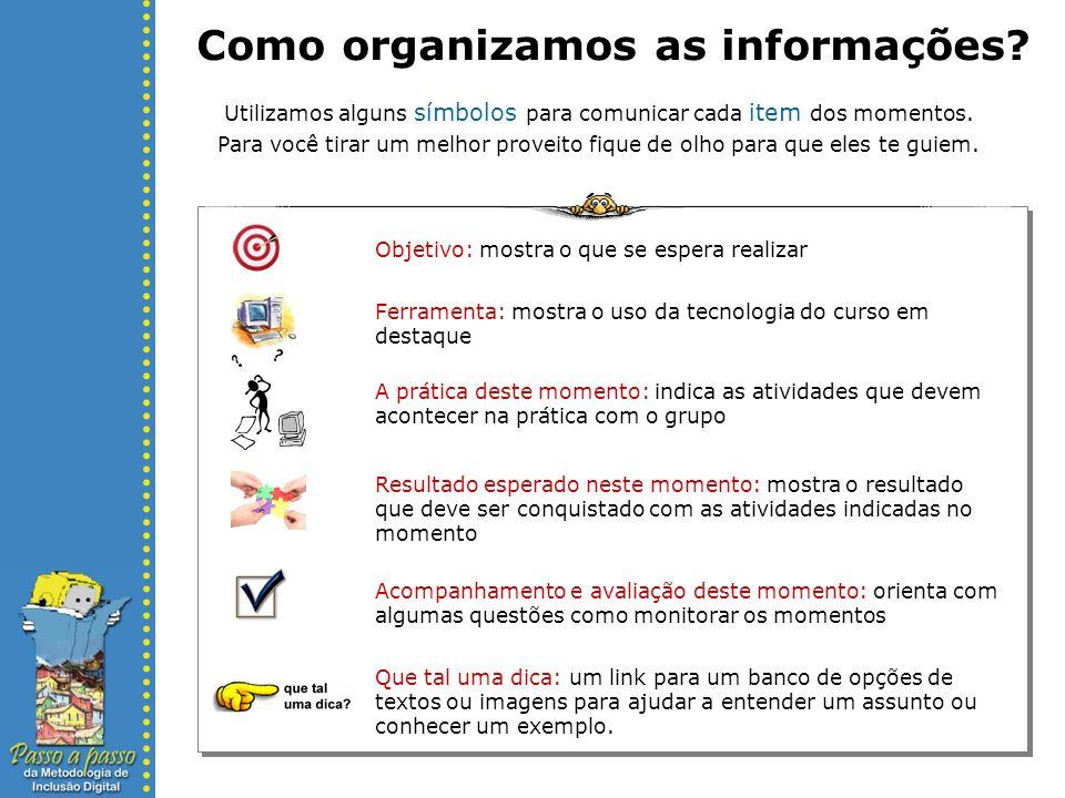 Como organizamos as informações