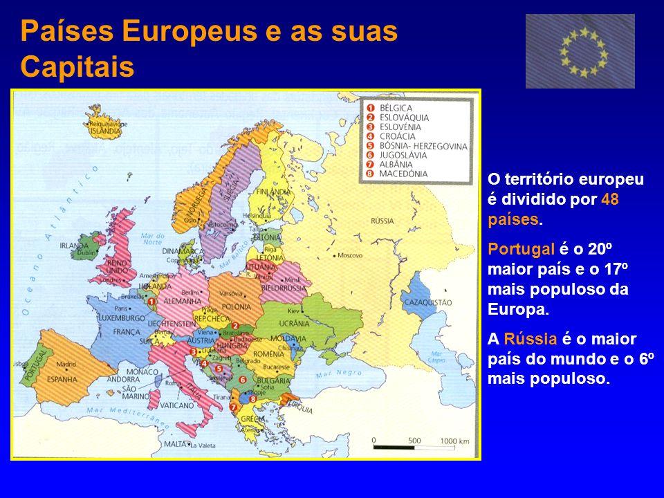 Países Europeus e as suas Capitais