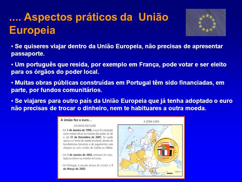 .... Aspectos práticos da União Europeia
