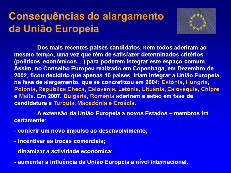 Consequências do alargamento da União Europeia