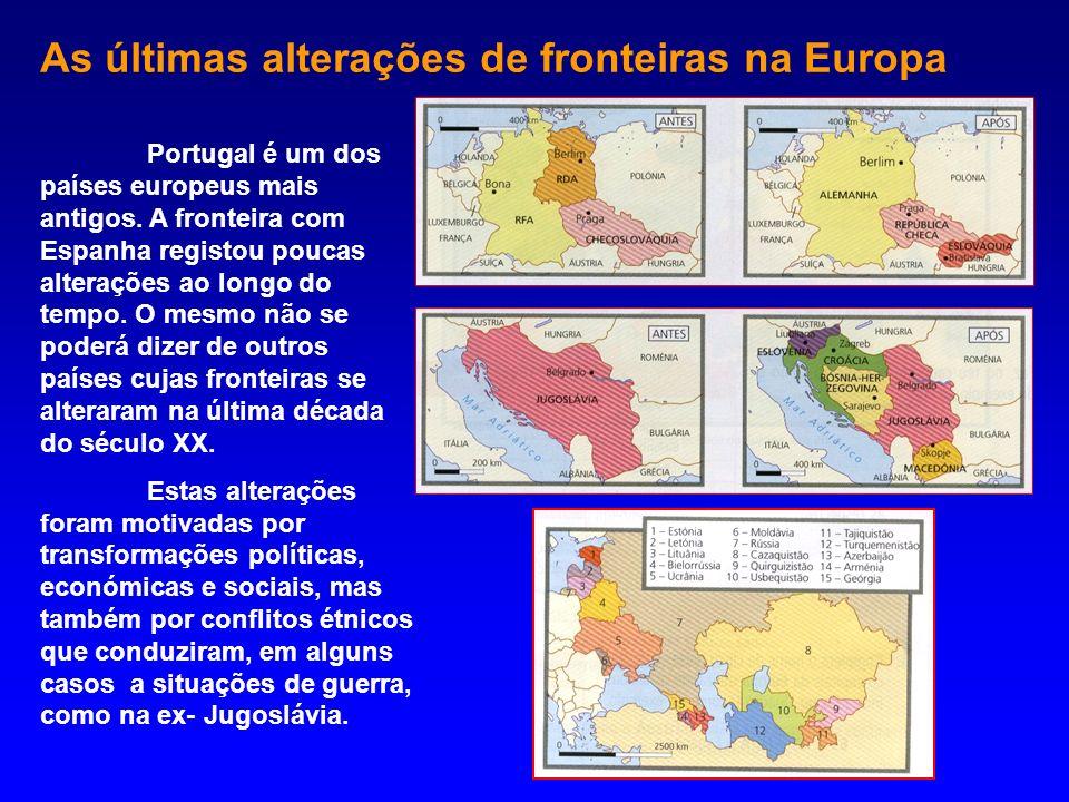 As últimas alterações de fronteiras na Europa