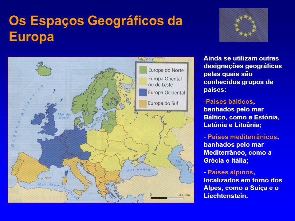 Os Espaços Geográficos da Europa