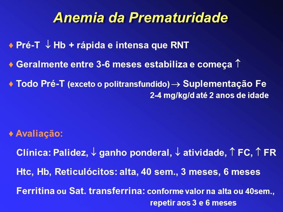 Anemia da Prematuridade