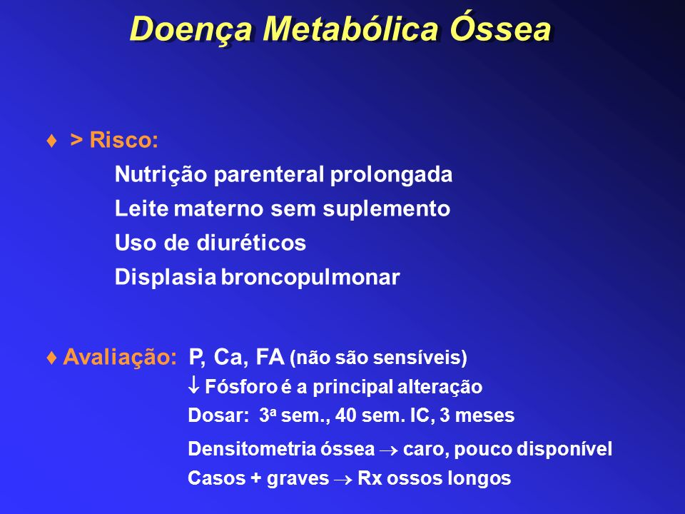 Doença Metabólica Óssea