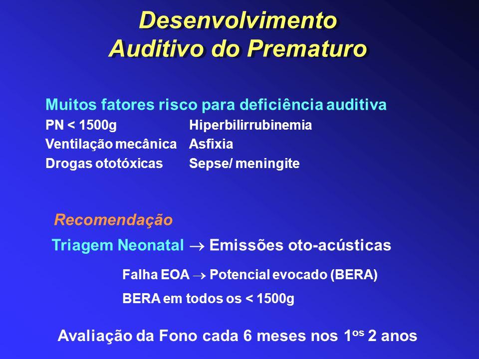 Desenvolvimento Auditivo do Prematuro