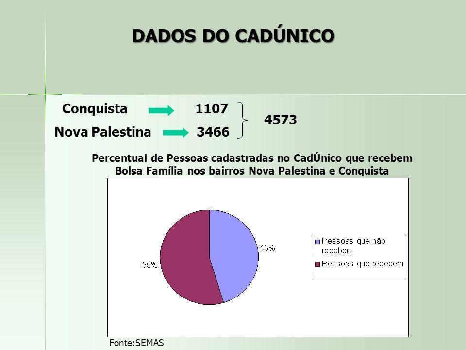 DADOS DO CADÚNICO Conquista 1107 Nova Palestina 3466 4573