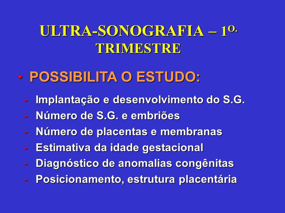 ULTRA-SONOGRAFIA – 1O. TRIMESTRE