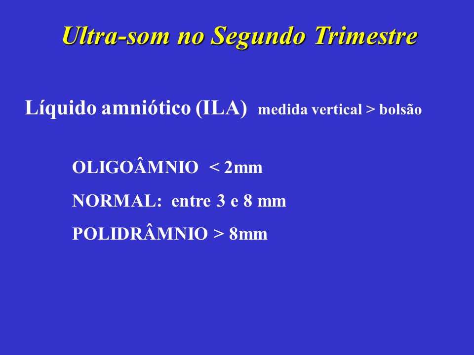 Ultra-som no Segundo Trimestre