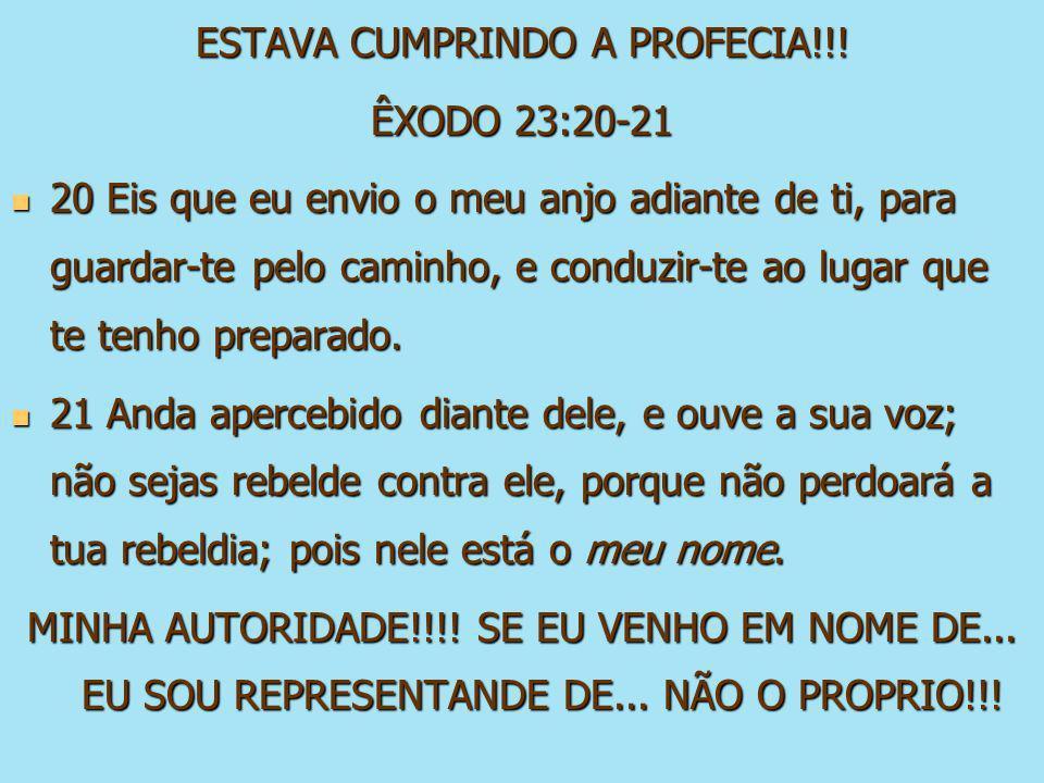 ESTAVA CUMPRINDO A PROFECIA!!!