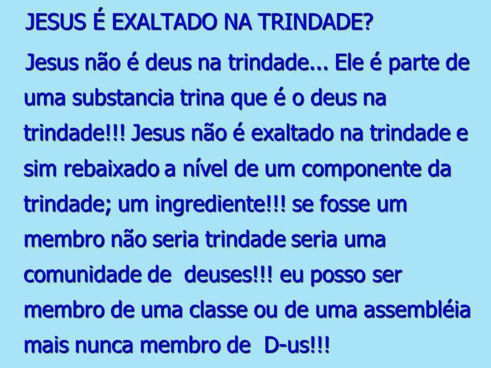 JESUS É EXALTADO NA TRINDADE